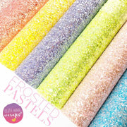 frosted pastels chunky glitter fabric sheets