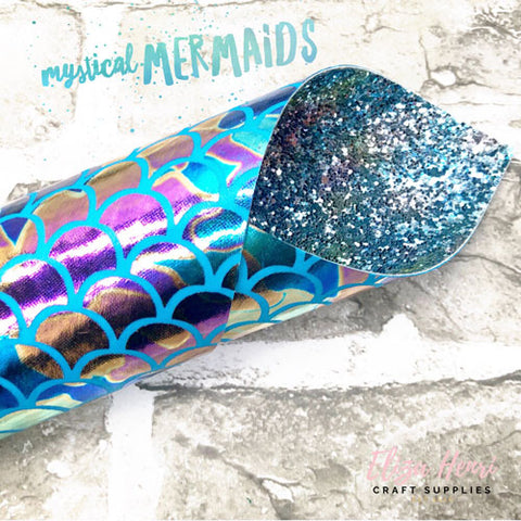 Mystical Mermaids Double Sided Chunky Glitter Fabric