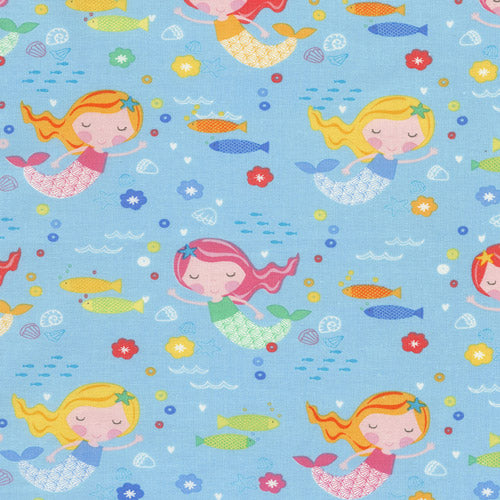 Cute Mermaids Designer Fabric Felt