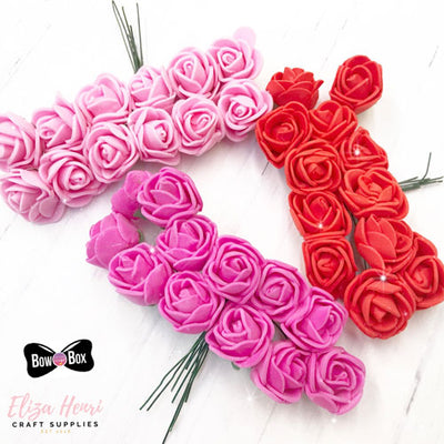 Mini Foam Roses- Bundles of 12