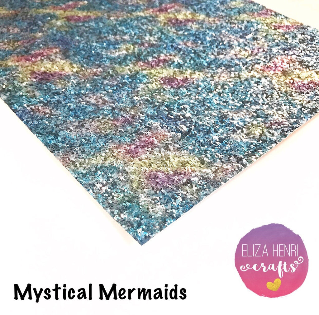 Mystical Mermaids Chunky Glitter Fabric