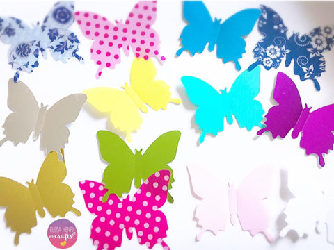 NEW Mirror & Pattern Butterfly Wing Embellishments