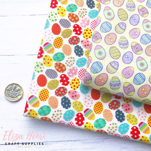 Bright and Pastel Easter Eggs Artisan Fabric Felt