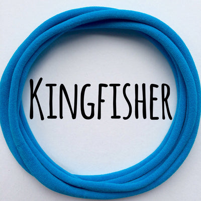 Skinny Nylon Headbands- Dainties- Kingfisher