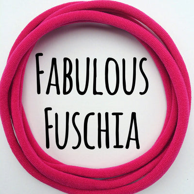 Skinny Nylon Headbands- Dainties- Fabulous Fuchsia