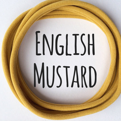 Skinny Nylon Headbands- Dainties- English Mustard