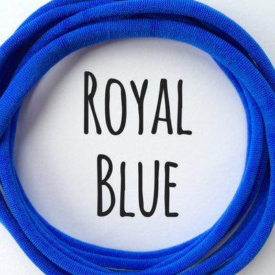 Skinny Nylon Headbands- Dainties- Royal Blue
