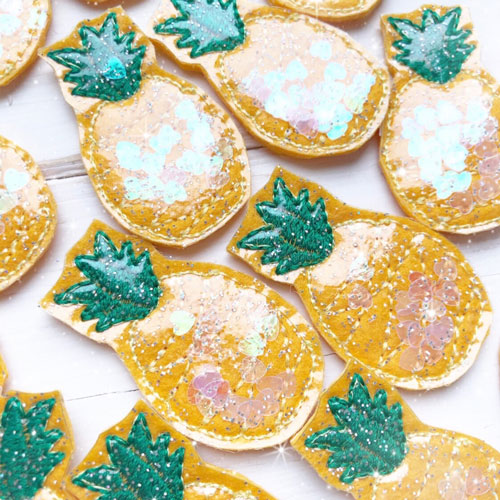 Glitter & Confetti Filled Pineapple Felties