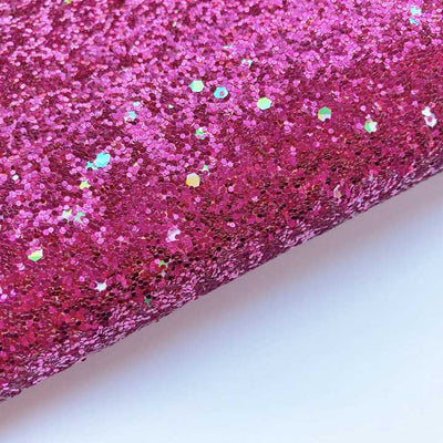 Paint the Town Pink Chunky Glitter Fabric