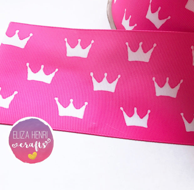Princess Crowns Grosgrain Ribbon 2'' or 3''
