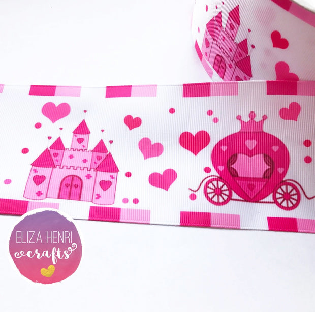 Princess Castles & Carriages Grosgrain Ribbon 2'' or 3''