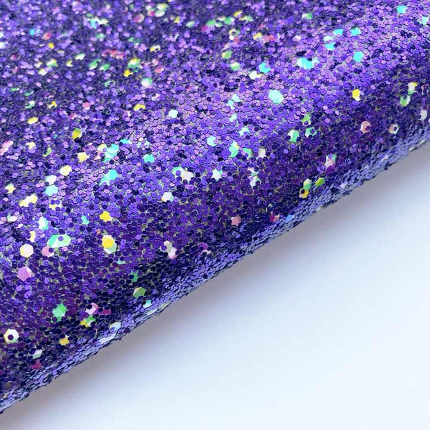 The Purple One Chunky Glitter Fabric