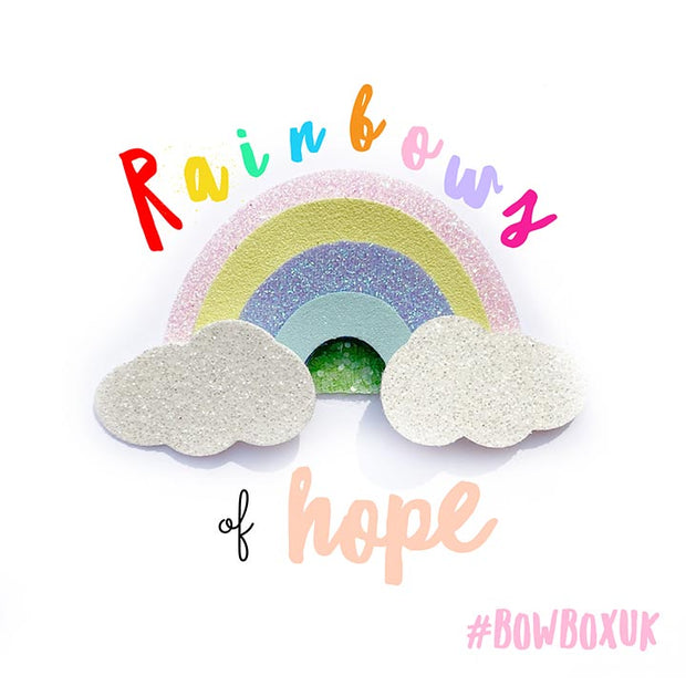 EHC Exclusive Rainbow Clouds Hair Bow Die Cutter- PRE ORDER DUE EARLY AUGUST