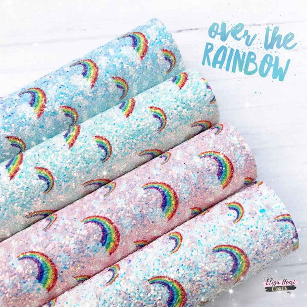 rainbow chunky glitter fabric uk