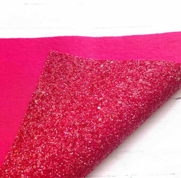 raspberry backed glitter fabric