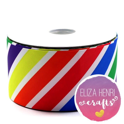 Rainbow Kite Grosgrain Ribbon 3'' - Eliza Henri Craft Supply