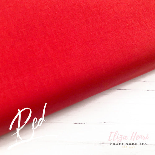 Red Plain Cotton Fabric