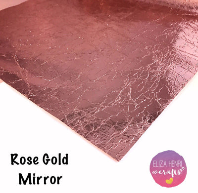 Rose Gold Cracked Mirror Fabric