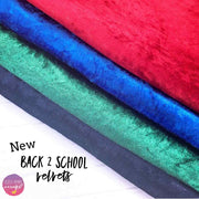 School colour crushed velvet fabric felt