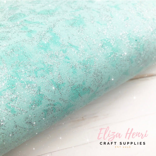 Fairy Frost Cotton Fabric- SEAFOAM