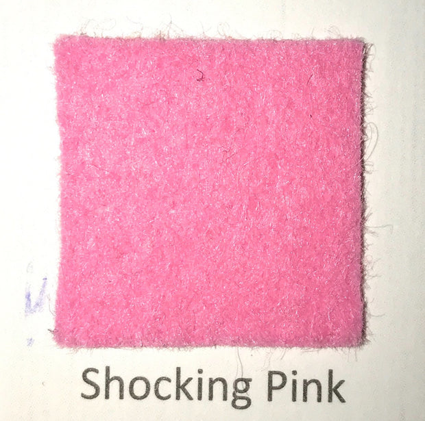 Shocking Pink Merino Wool Blend Felt