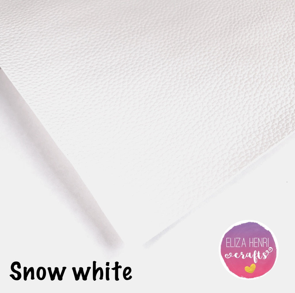 Snow White Pearly Leather Fabric