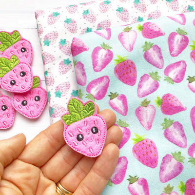 Strawberry Fabric Felt