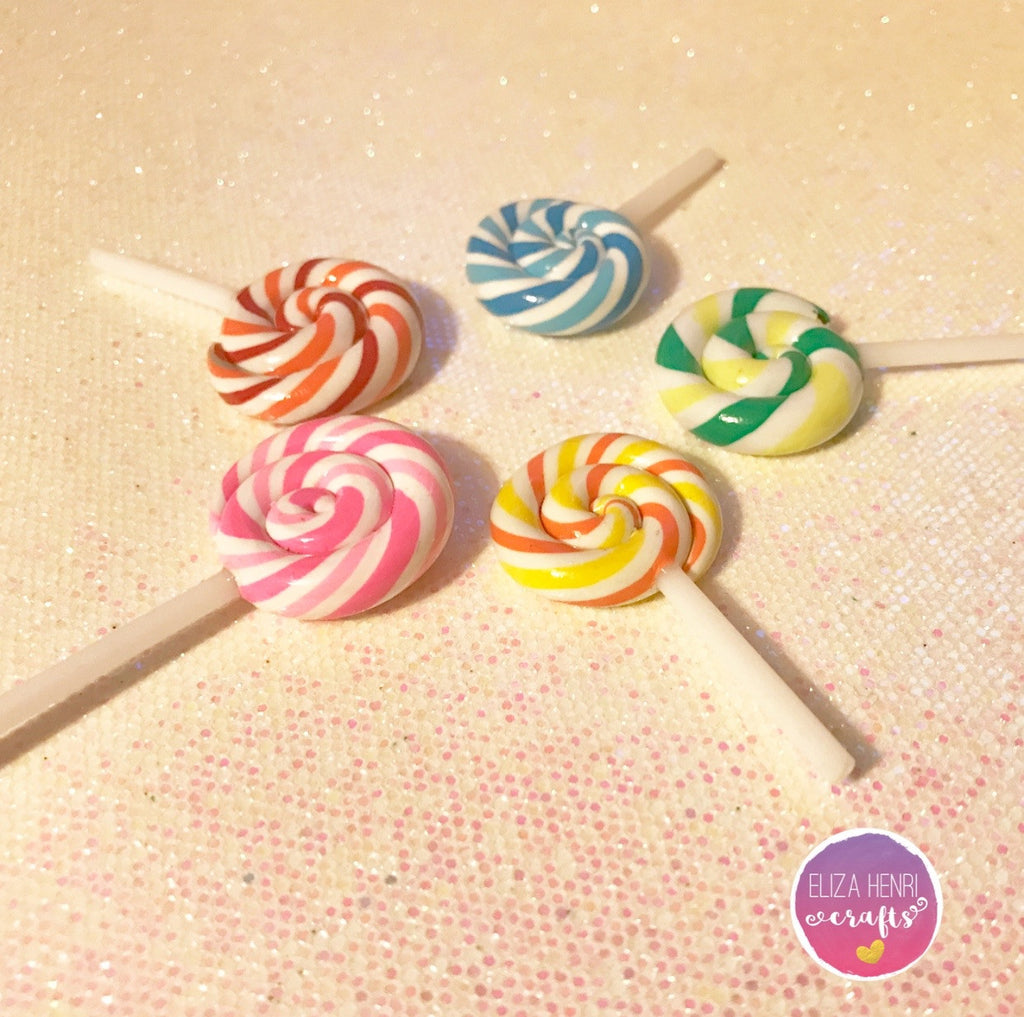 Stripe Lollipops Charm Embellishments