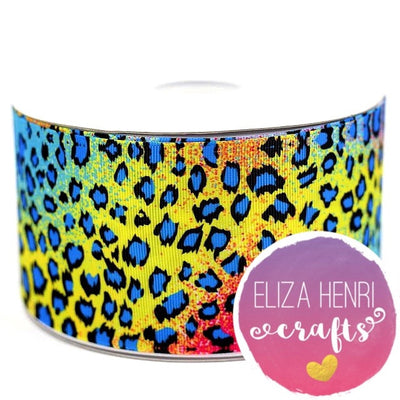 Summer Leopard Grosgrain Ribbon 3''