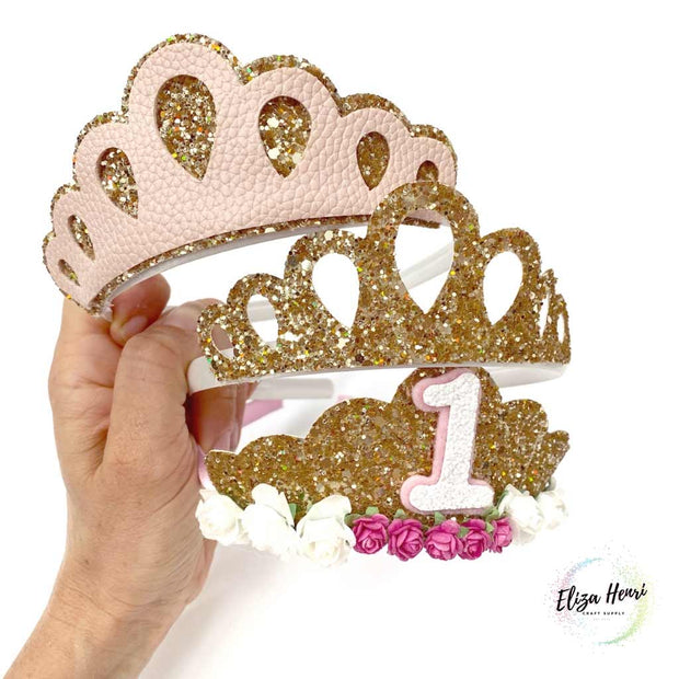 Lil' Miss Princess 3-in-1 Tiara Template for handcutting