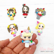 Carnival Circus Girl Clay Charms