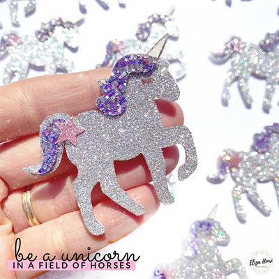 Sparkly Unicorn Craft Patch Embellishments