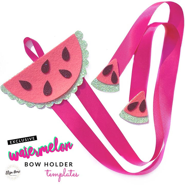EHC Exclusive Watermelon Hair Bow Holder Template