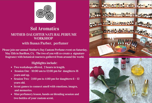 Mother's Day Custom Perfume event - Saturday, May 13th.