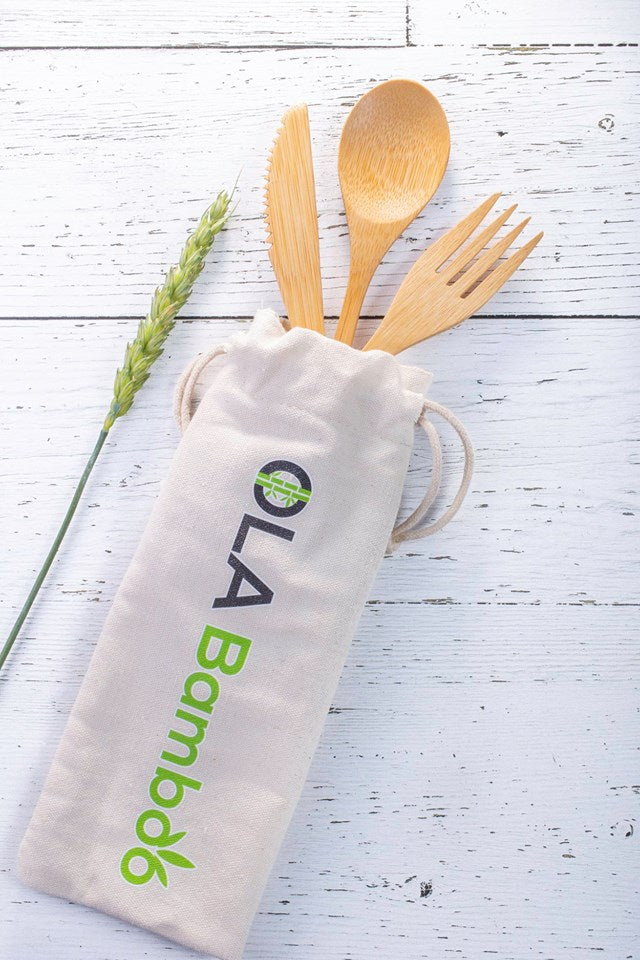 OLA Bamboo Reusable Bamboo Utensils