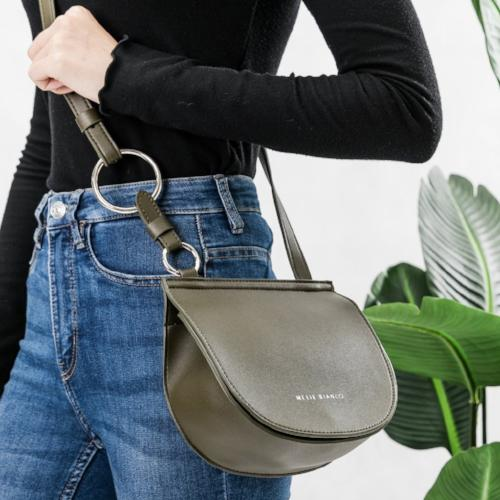 Melie Bianco Vegan Leather Crossbody Bag