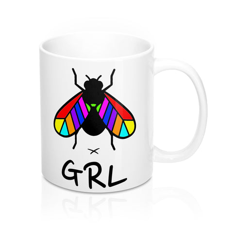 COLOURED FLYGRL MUG 11oz