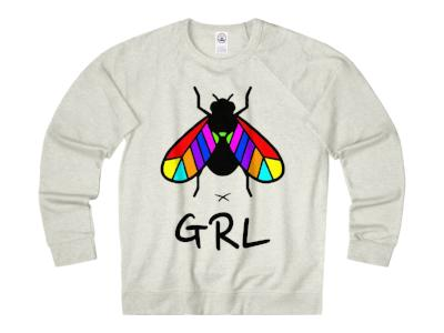 FLYGRL grey sweatshirt