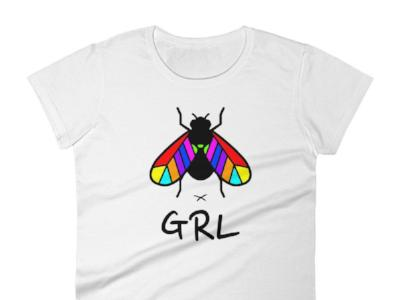 FLYGRL colorful t-shirt