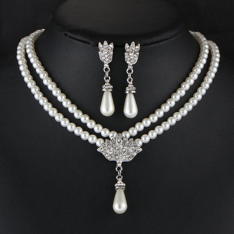 Bride Simulated Pearl Jewelry Set