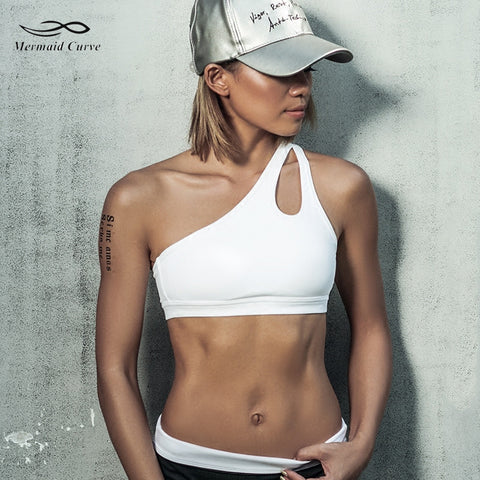 High Impact one shoulder Sports Bra