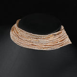 Multiple layers Rhinestone Crystal Choker
