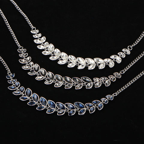 Crystal Leaf Chokers 3 to choose from