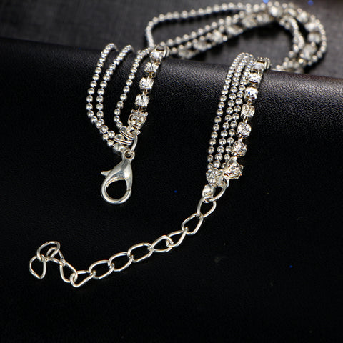 Multi-layer Sexy Crystal Anklet
