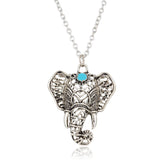 Vintage Elephant Pendant Necklace