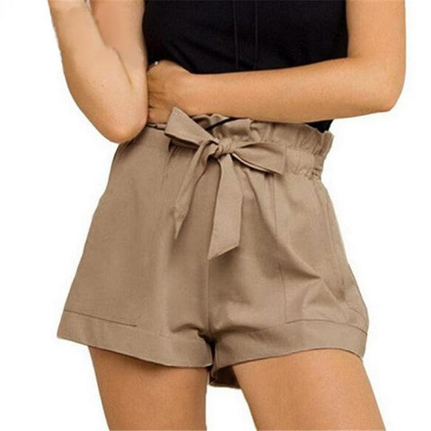 Loose ribbon summer shorts for women