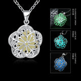 Luminous Flower Shape Locket Glowing Pendant