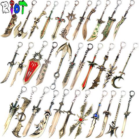 League of Legends Weapons Keychain