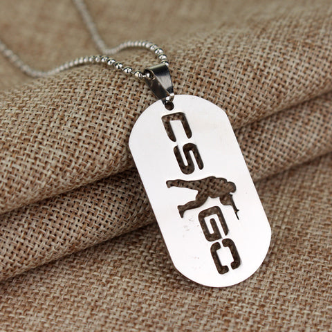 CS:GO Dog Tag Pendant Necklace