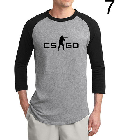 CS:GO 3/4 sleeve T-shirt Men 2017